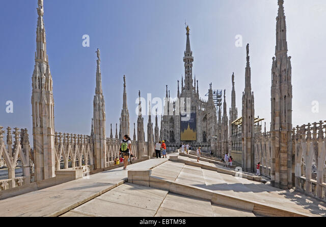 cathedral of Milano, Italy, Lombardy, Milan - Stock Image