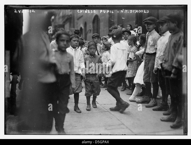 N.Y. school - Chinese pupils (LOC) - Stock Image