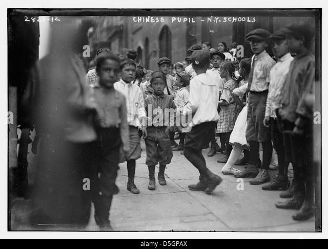 N.Y. school - Chinese pupils (LOC) - Stock Image