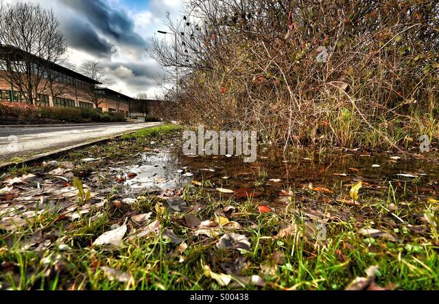 Winter morning - urban scene - Stock Image