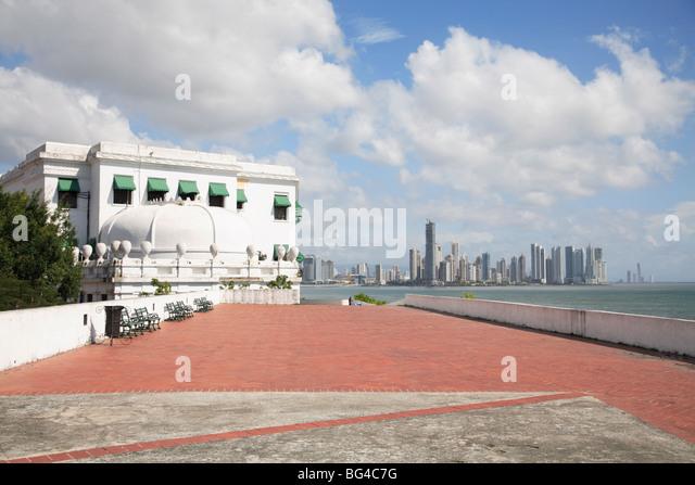 Paseo General Esteban Huertas, Casco Viejo, San Felipe District, Panama City, Panama Bay, Panama, Central America - Stock Image