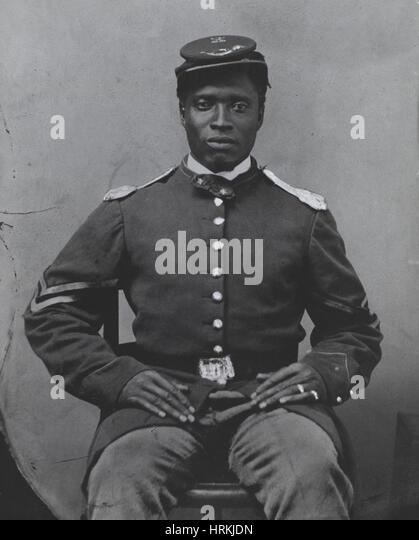 Civil War Soldier - Stock Image