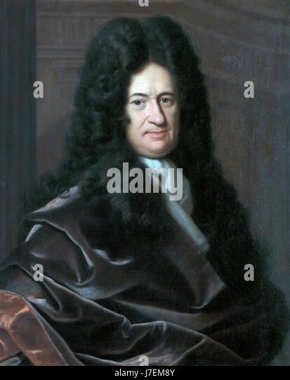 Gottfried Wilhelm Leibniz *oil on canvas *81 x 66 cm - Stock-Bilder