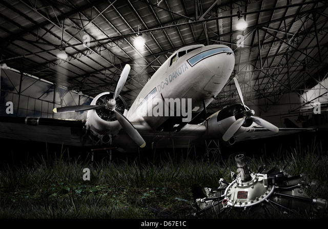 dc 3 dakota - Stock Image