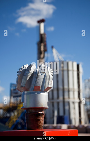 Cuadrilla Resources new USA Drill Bit & drilling equipment at Shale Gas Drill Site, Presse Hall Farm, Blackpool, - Stock Image