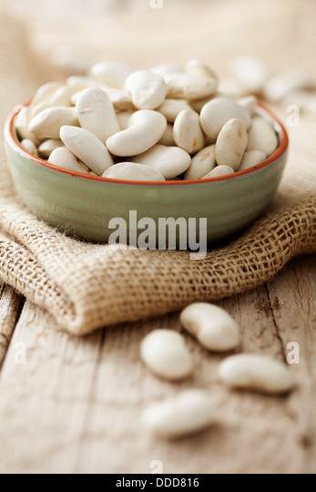 white beans - Stock Image