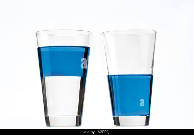 Two glasses with blue liquid - Stock Image