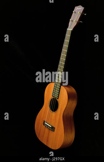 Mahogany baritone ukulele by Pono - Stock Image