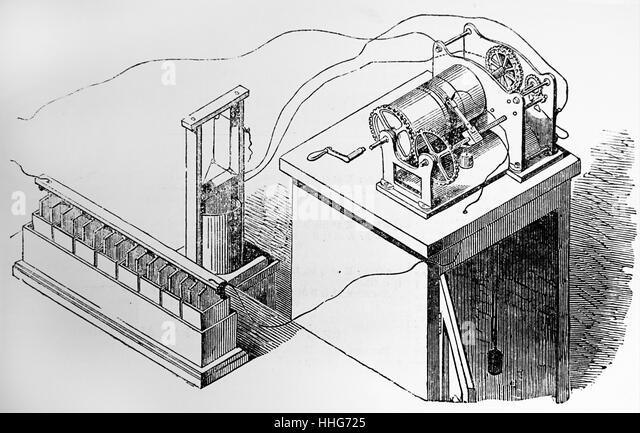 Bakewell's copying telegraph. 1850. - Stock-Bilder