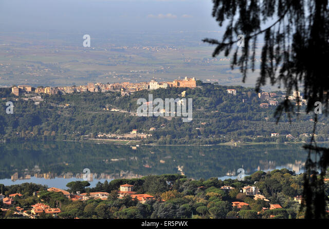 Lake albano stock photos lake albano stock images alamy - Castel gandolfo map ...