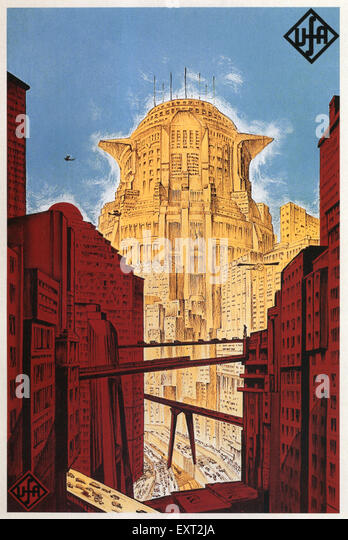 1920s Germany Metropolis Film Poster - Stock Image