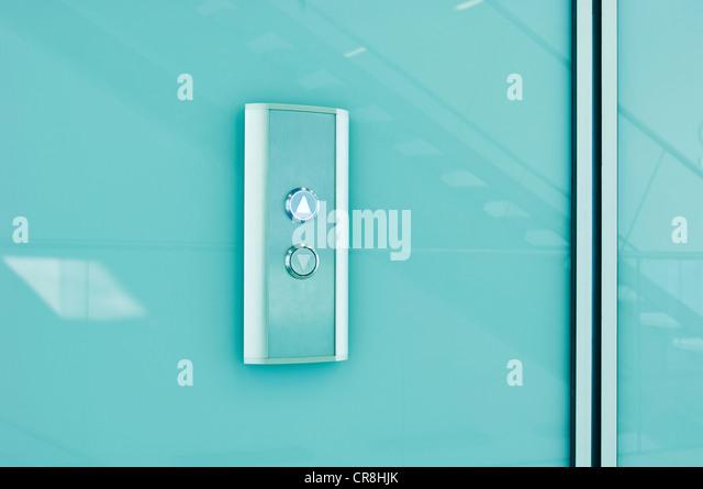 Elevator controls in modern office block - Stock Image