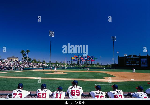 Baseball complex, Disneyworld, Orlando Florida, USA - Stock Image