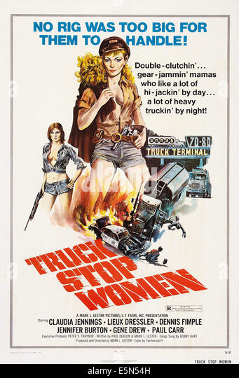 TRUCK STOP WOMEN, US poster art, 1974. - Stock Image