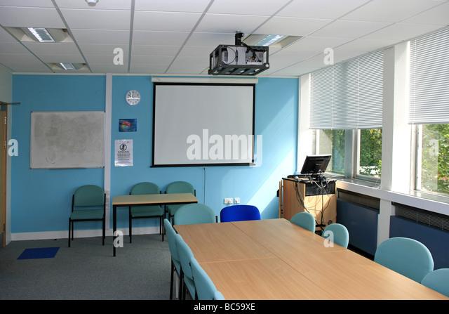 Modern Classroom Projector ~ Overhead projector stock photos