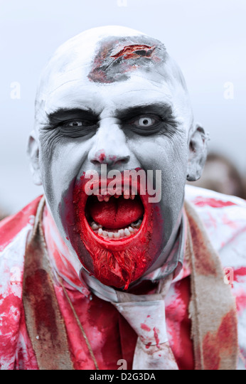 Zombie taking part in the Brighton Zombie Parade 2012 - Stock Image