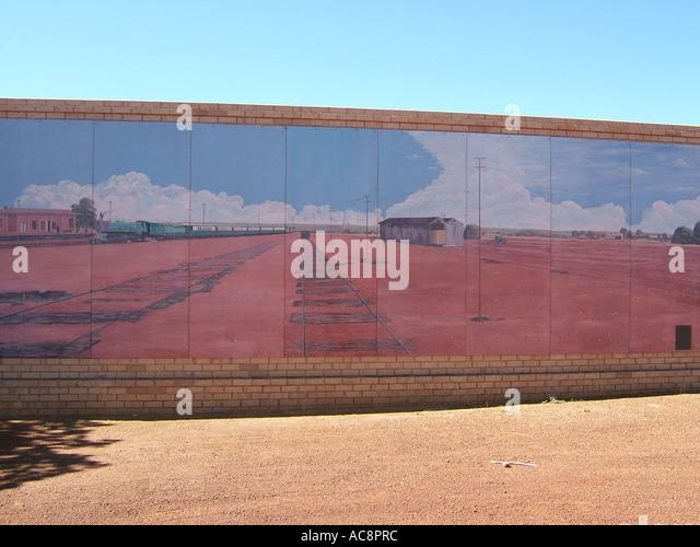 Outback mural australia stock photos outback mural for Australian mural