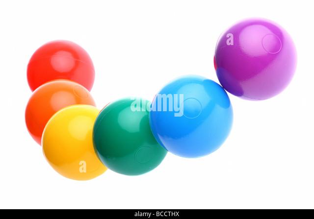 Plastic Toy Balls : Pool ball cutout stock photos