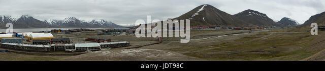 Panoramic view over Longyearbyen - Stock Image