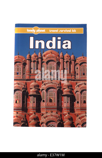 A Lonely Planet travel guide to India. - Stock-Bilder