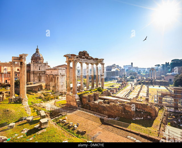 Roman ruins in Rome, Forum - Stock-Bilder