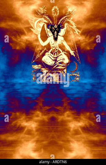 Eliphas Levi's Baphomet Universe - Stock Image