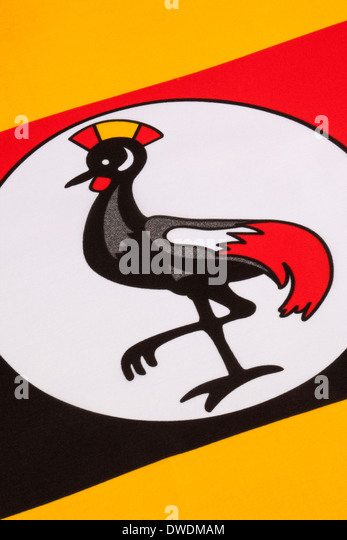 The flag of Uganda - Stock Image
