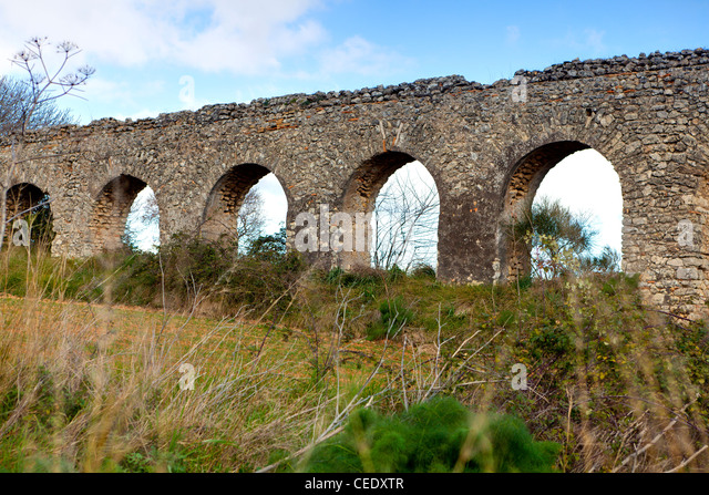 Roman acqueduct - Stock Image