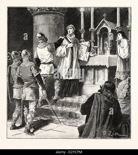 ARREST OF ARCHBISHOP GEOFFREY IN A MONASTERY AT DOVER - Stock Image