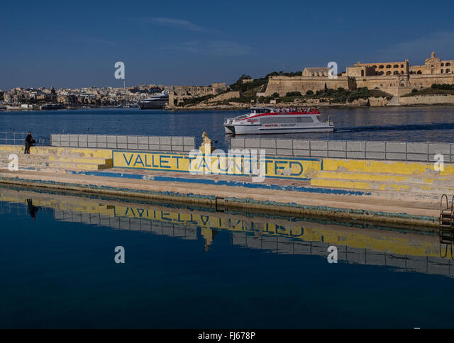 Water polo stadium for Valletta United in the capital of Malta - Stock Image