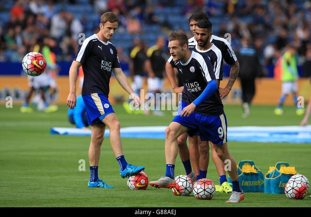 Soccer - Barclays Premier League - Leicester City v Aston Villa - King Power Stadium - Stock-Bilder