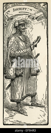 The Sheriff of Nottingham - Stock Image