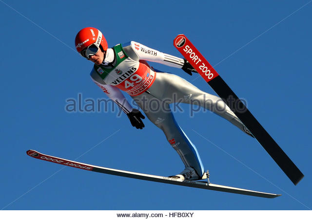Ski Jumping - 65th four hills tournament trial round - Oberstdorf, Germany - 29/12/2016 - Germany's Stephan - Stock Image