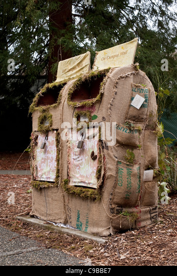 Environmental friendly mailbox on the University of Washington Campus Seattle Washington State USA - Stock Image