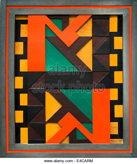 Relief polychrome , 1921 Auguste Herbin 1882-1960 France French - Stock Image