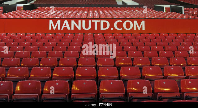 Manutd.com at Old Trafford,Manchester United,England,UK - Stock Image