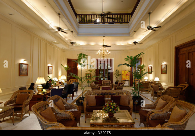 The Strand Hotel is a Victorian-style hotel built in 1896. Yangon region. Burma. Republic of the Union of Myanmar. - Stock-Bilder