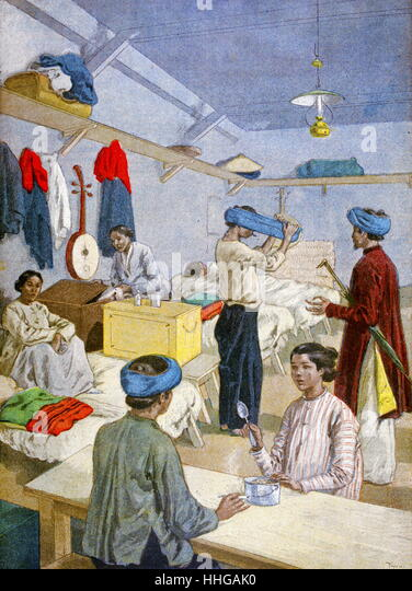 Daily scene in Vietnam (French-Indo-China); 1900 - Stock Image