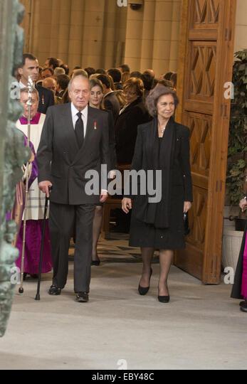 King Juan Carlos I has decided to abdicate  Featuring: Juan Carlos de borbon Where: Madrid, Spain When: 02 Jun 2014 - Stock Image
