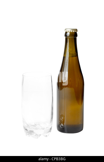 A beer and a glass - Stock Image