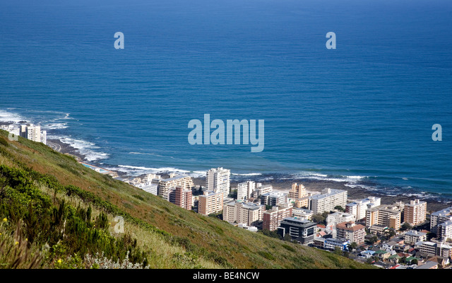 View of Sea Point - Cape Town - Stock Image