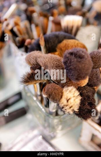 professional makeup brushes - Stock Image