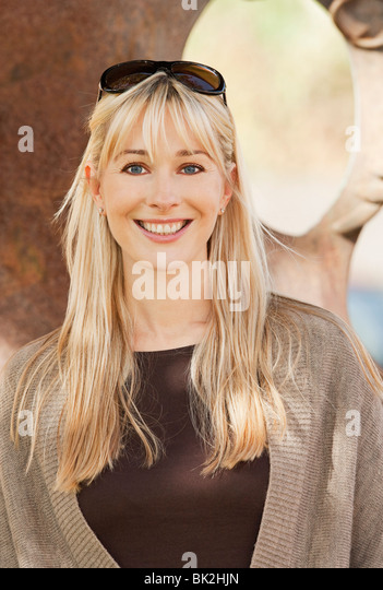 Beautiful smiling, happy woman - Stock Image