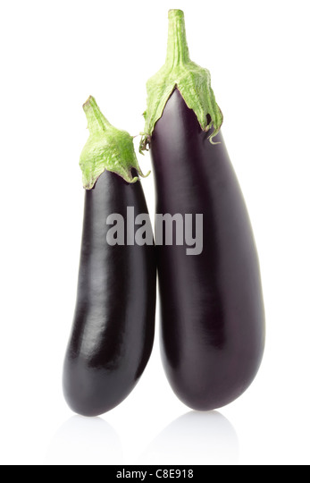 Aubergine or eggplant - Stock Image