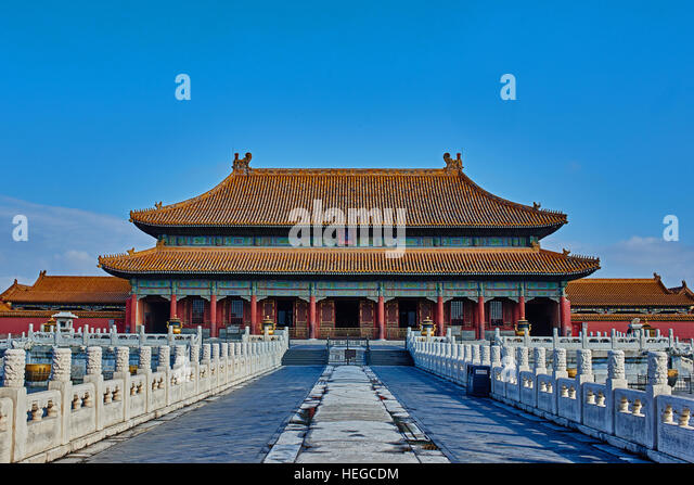 Kunninggong  Palace of Earthly Tranquility  imperial palace Forbidden City of Beijing - Stock Image