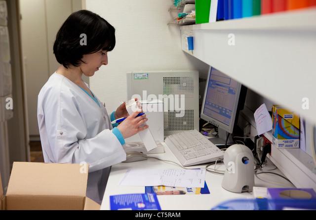 MEDICATION ORDER - Stock Image