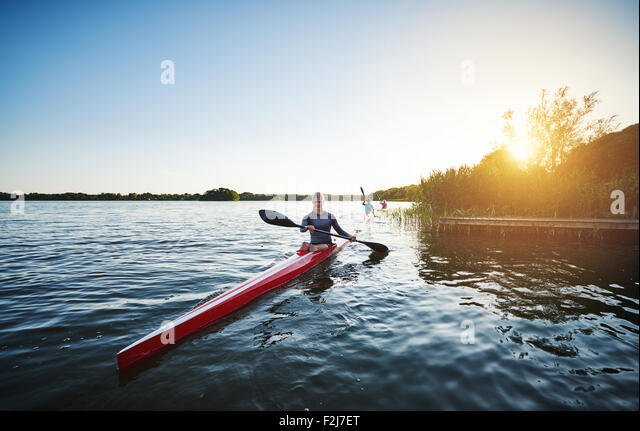 Elite rowing team - Stock Image