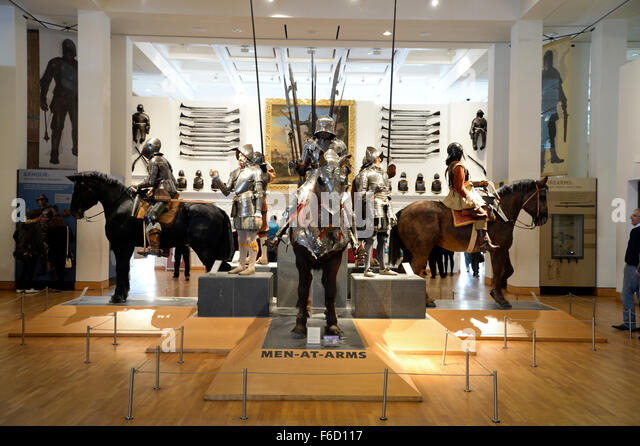 Royal Armouries Museum in Leeds, War Gallery - Stock Image