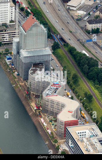 Aerial view, NRW State Archives, Duisburg, Ruhr Area, North Rhine-Westphalia - Stock Image