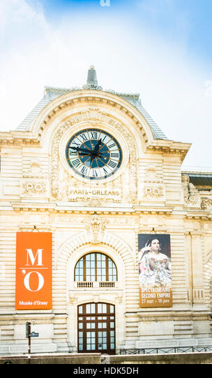 musée d´orsay, outside view - Stock Image